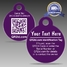 QR2id 32mm Disc Personalised (Violet)