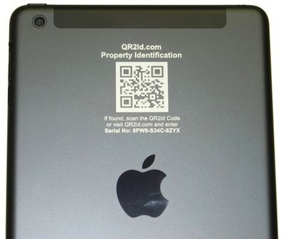 Direct engrave QR2id QR Codes to build business