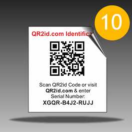 QR2id Wildlife Care Stickers
