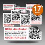 QR2id Mixed Weather-Resistant Polymer Stickers Stickers