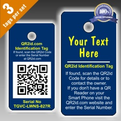 Personalised QR2id Tags