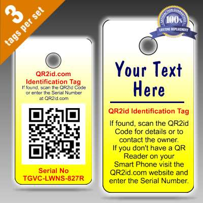 QR2id Personalised Tags